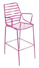Елегантен бар стол в цикламен цвят