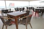 Универсален стол от бамбук за заведения за всесезонно използване