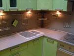 Проект на кухня в зелено 223-2616