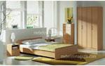 Класически изчистен дизайн на спалня по поръчка - изработка от ПДЧ или МДФ