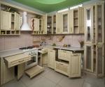модерна кухня от масив